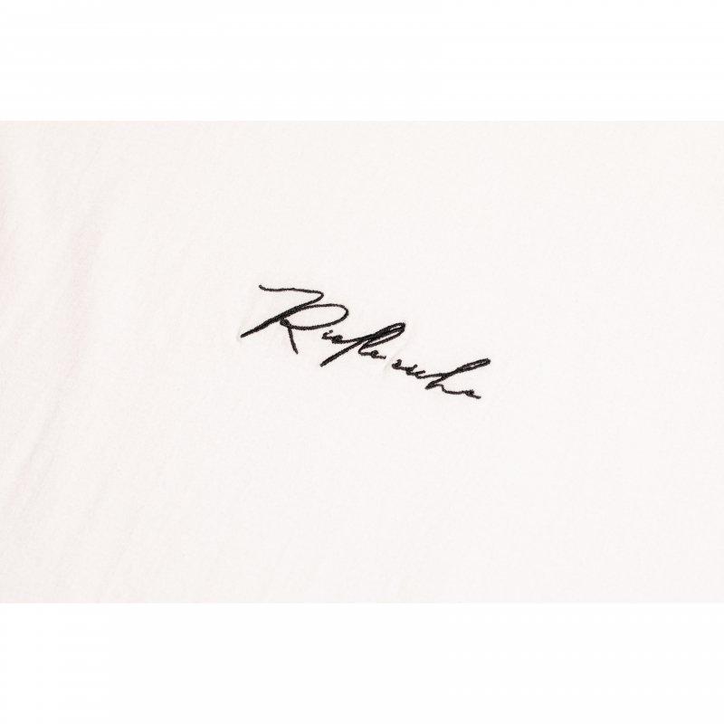 Embroidery Logo Long Sleeve TEE(White)