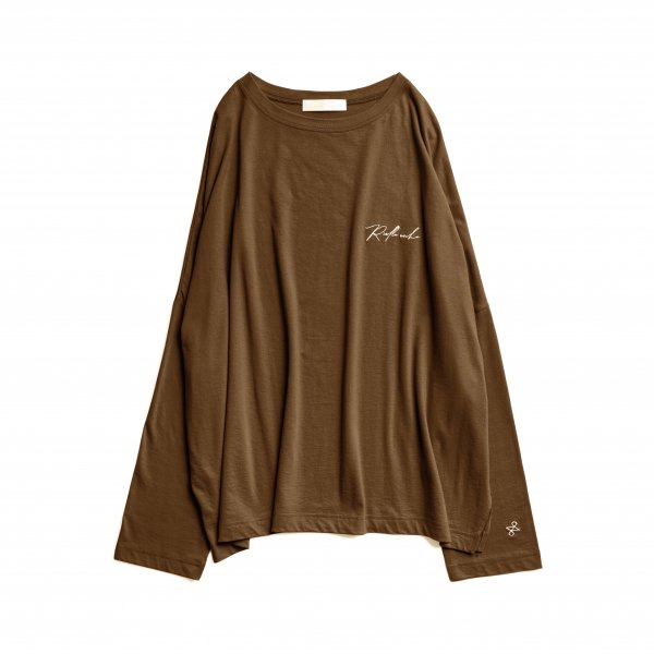 AMYER - Embroidery Logo Long Sleeve TEE(Brown)