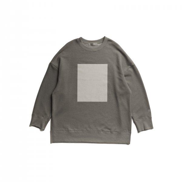 AMYER - Flocky Box Logo Print Sweat(Gray)