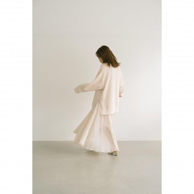 Airy Flare Maxi Skirt(Ivory)