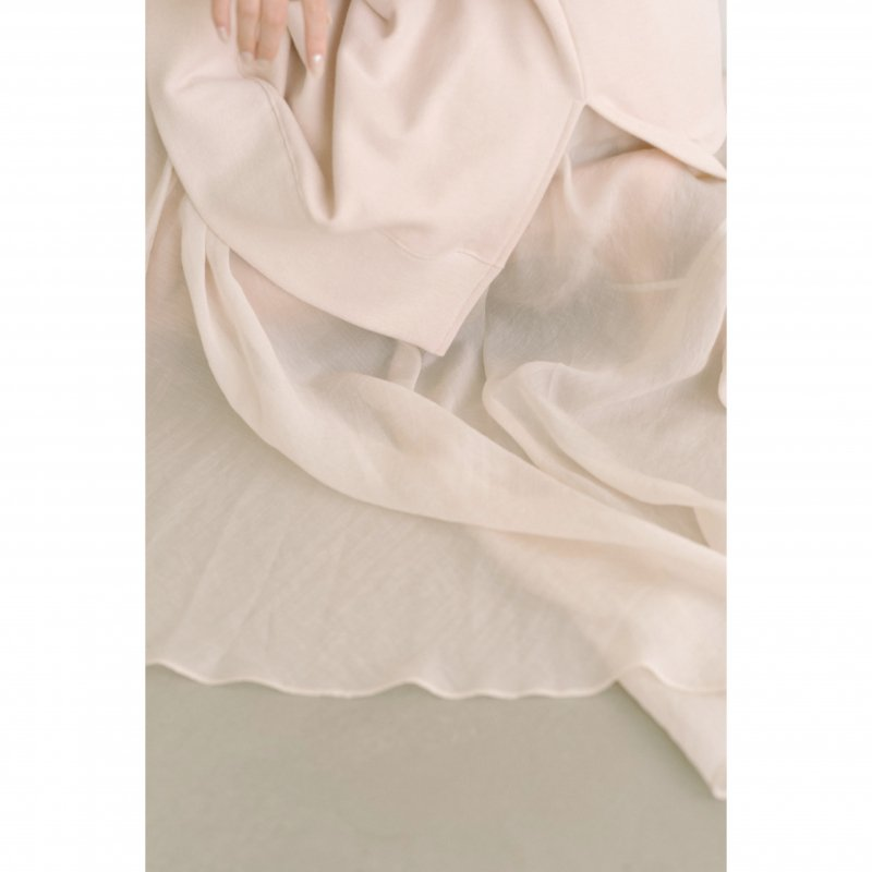 Airy Flare Maxi Skirt(Ivory)