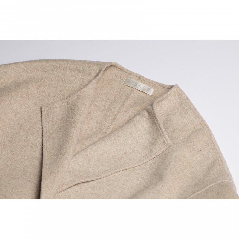 No Collar Gown Coat(Beige)