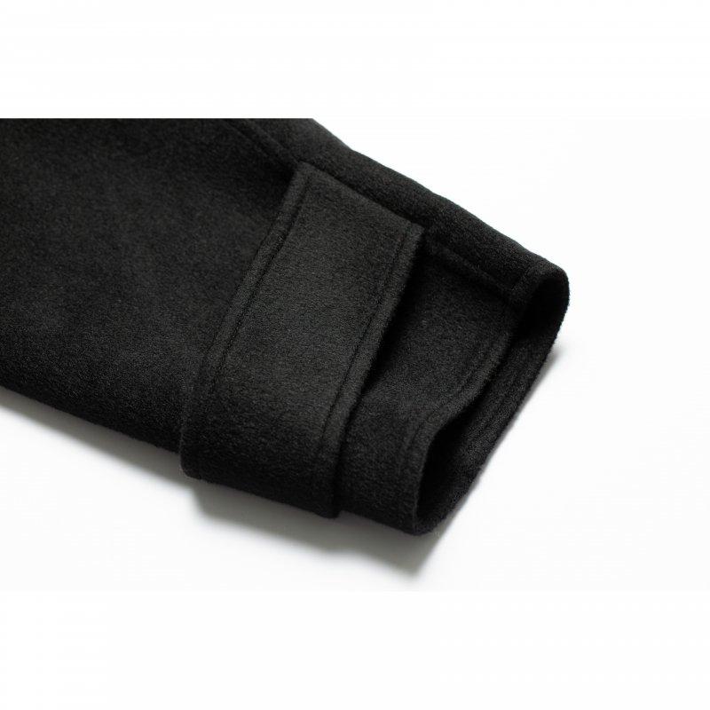 No Collar Gown Coat(Black)