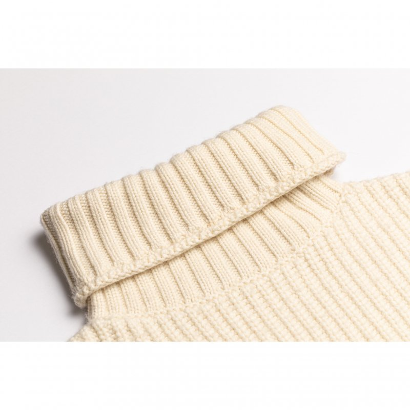 Big Turtleneck Knit Pullover(White)