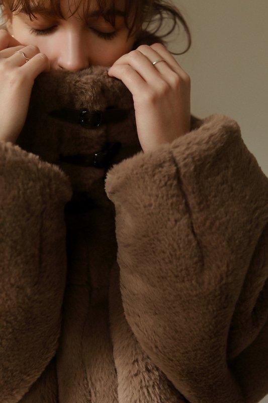 Eco Fur Short Jacket(Brown)