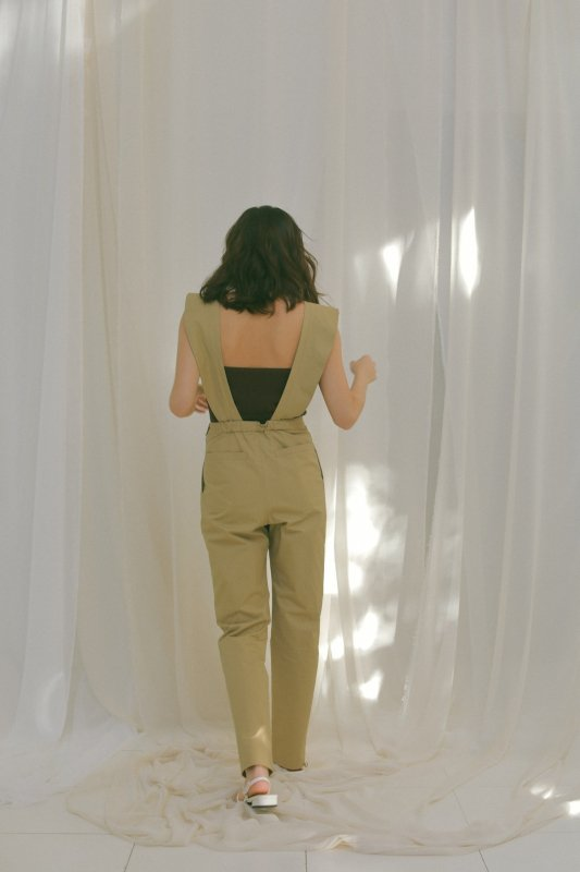 Frill Rompers(Beige)