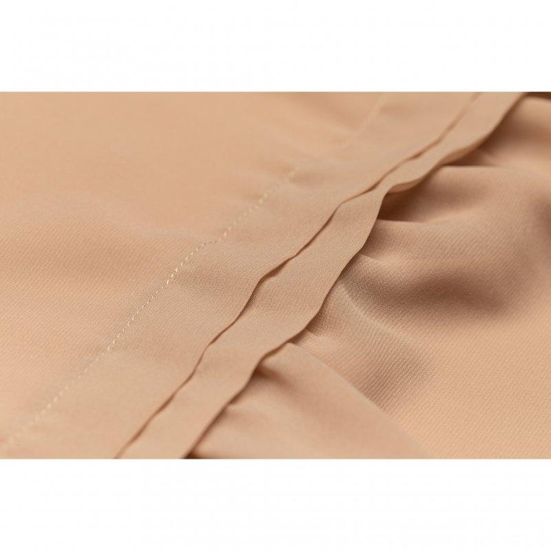 Tuck Tiered Maxi Dress(Pink Beige)