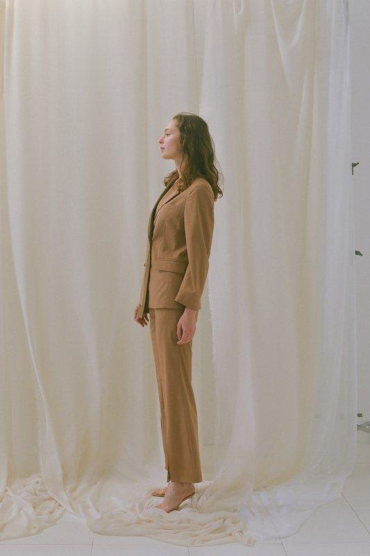 Design Tailored Jacket(Brown)
