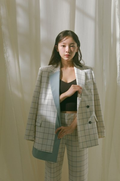 AMYER - Design Tailored Jacket(Check)