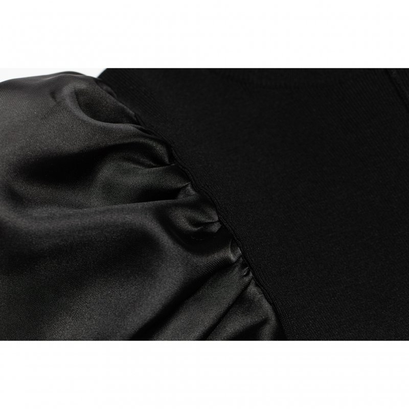 Volume Sleeve Knit One-Piece(Black)