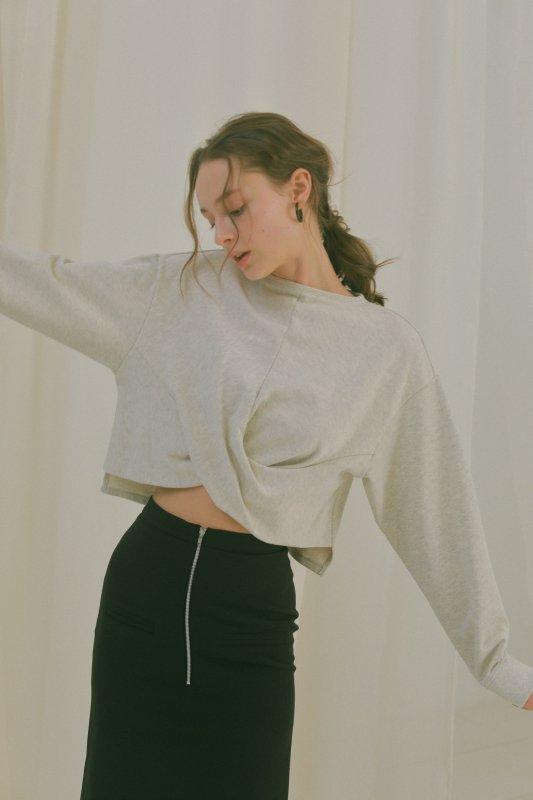 Slit Tight Skirt(Black)
