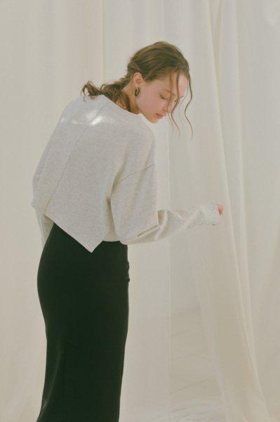 AMYER - Slit Tight Skirt(Black)