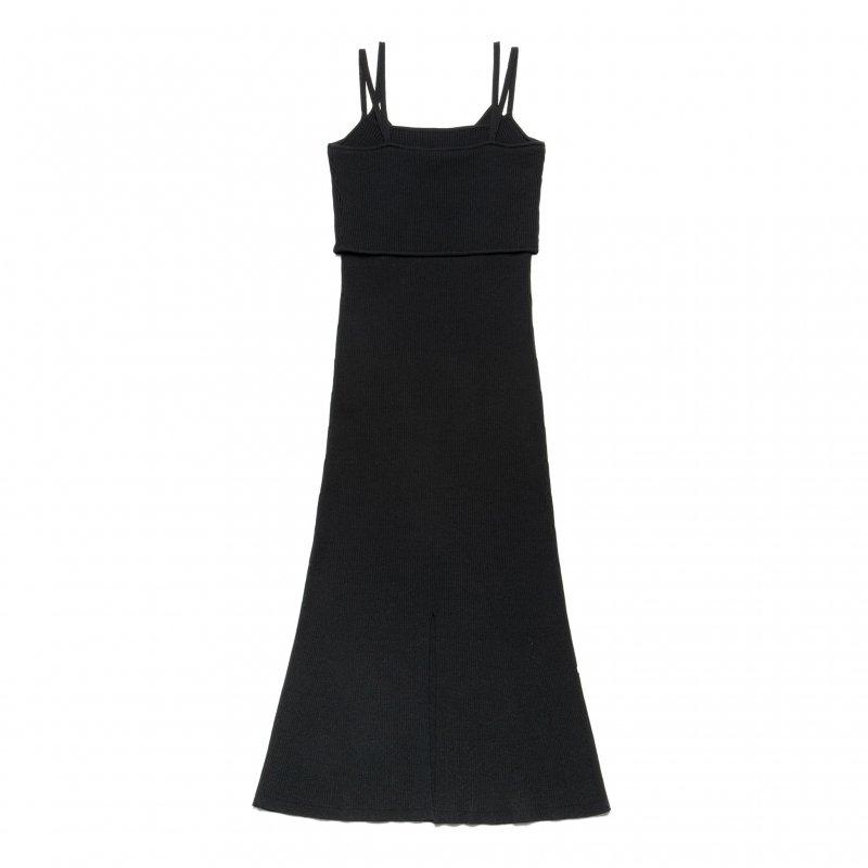 Knit Cami One-Piece(Black)