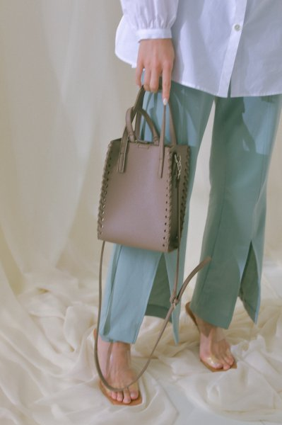 AMYER - 3way Square Bag(Gray-Beige)