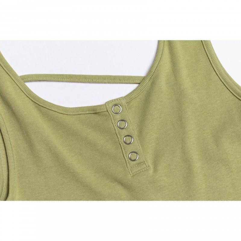 Back Design Tank Top(Green)
