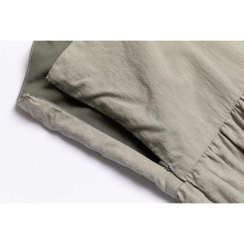 Long Ribbon Cami One-piece(Khaki)