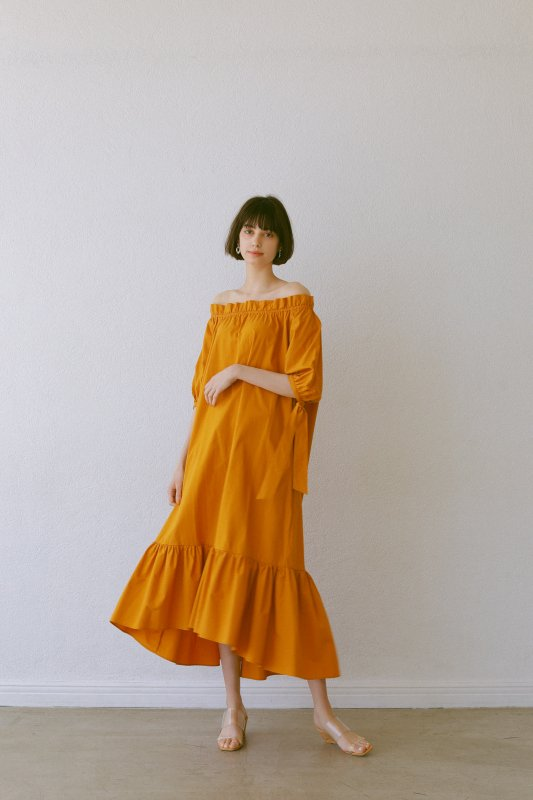 Off-Shoulder 3way One-Piece(Orange)