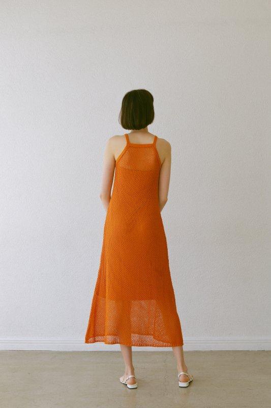 Mesh Knit One-Piece(Orange)