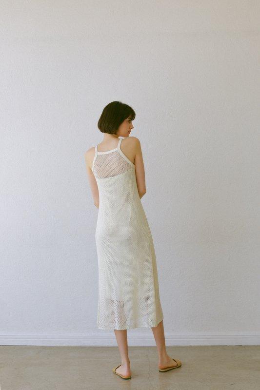 Mesh Knit One-Piece(Ivory)