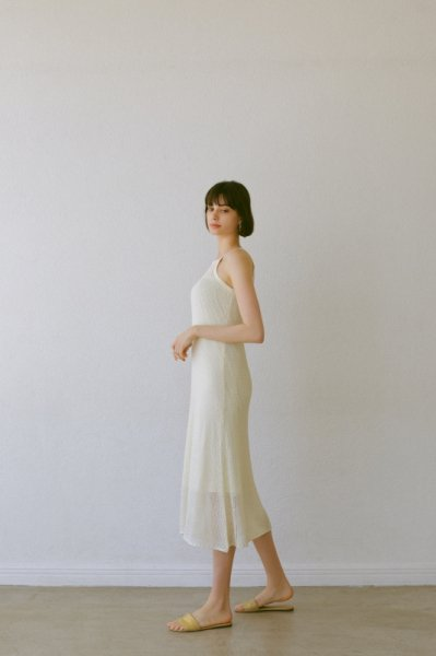 AMYER - Mesh Knit One-Piece(Ivory)