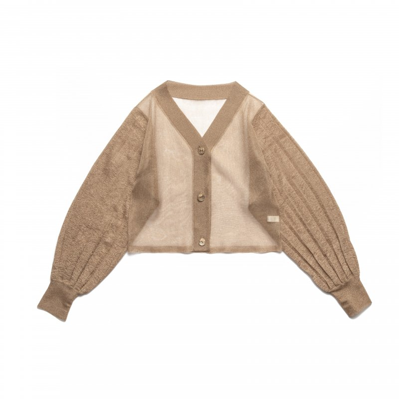 Shear Knit Cardigan(Brown)