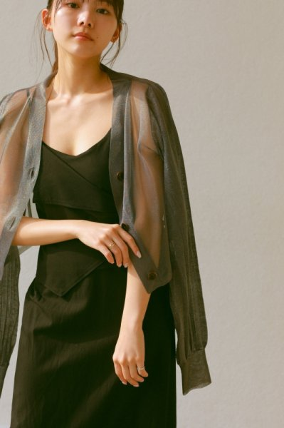 AMYER - Shear Knit Cardigan(Black)