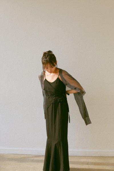 AMYER - Layered Cami One-Piece(Black)