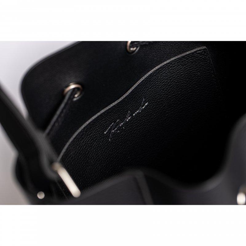 Fake Leather 2way Bucket Bag(Black)