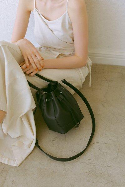 AMYER - Fake Leather 2way Bucket Bag(Black)