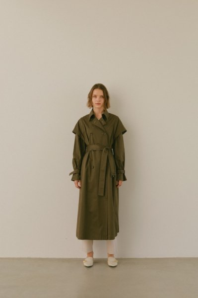 AMYER - 2Way Trench Coat(Khaki)