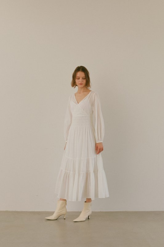 Cache Coeur Long One-Piece(Off White)