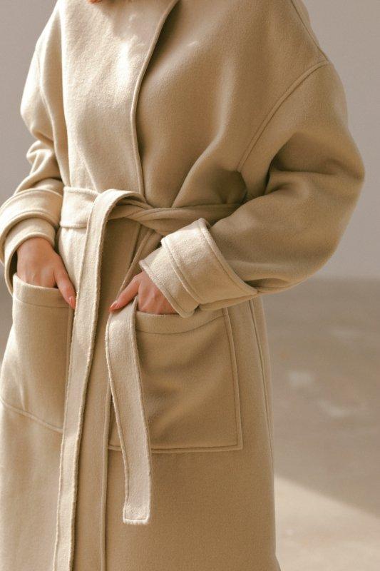 No Collar Coat(Beige)