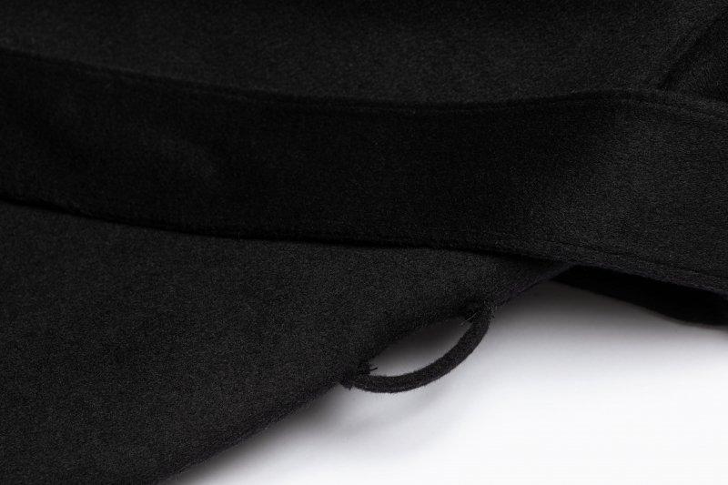 No Collar Coat(Black)