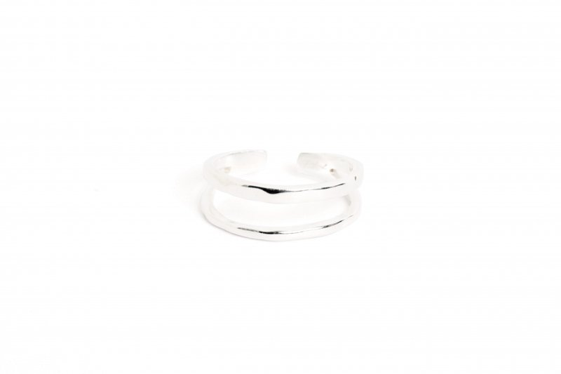 Double Line Ring(Silver)