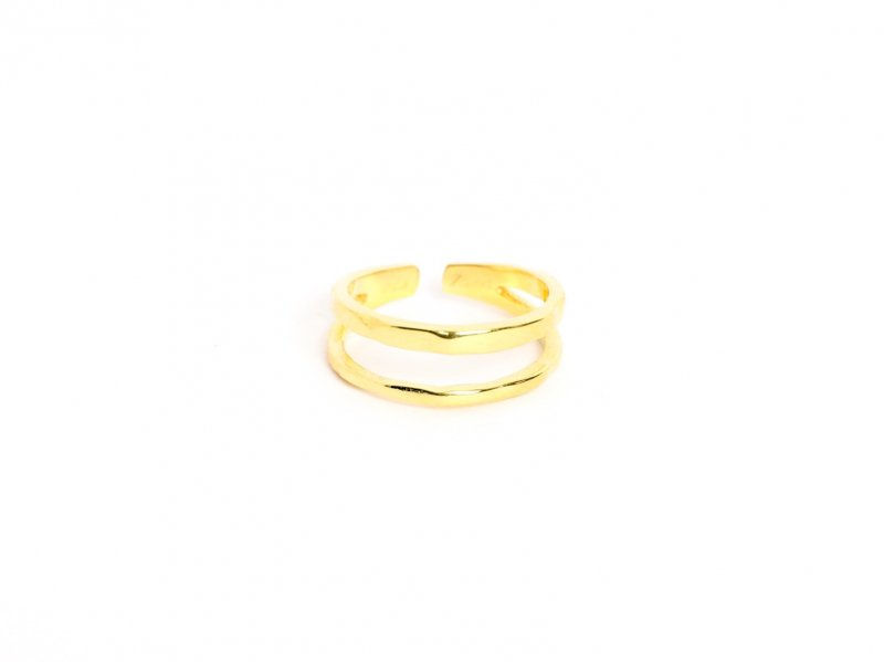 Double Line Ring(Gold)