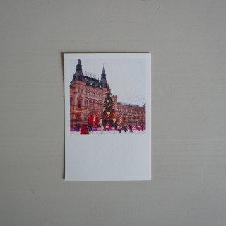 井岡美保撮影のポストカード クリスマスのグム百貨店