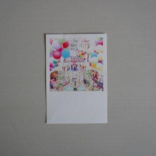 井岡美保撮影のポストカード グム百貨店の噴水