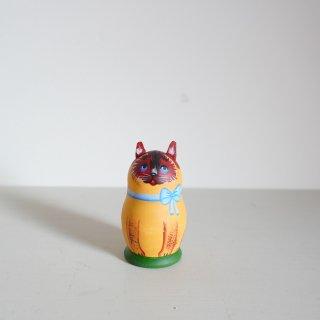 ニキーチン工房のマトリョーシカ 猫(茶)