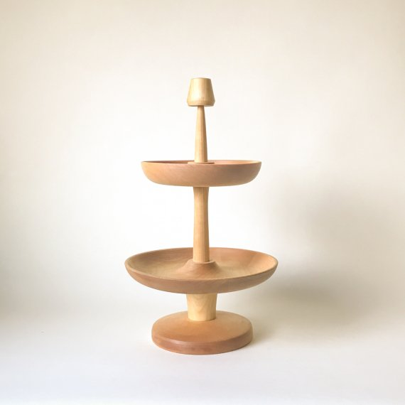 WOODEN PLATE + STAND | 2