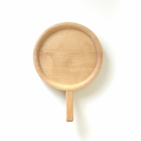 WOODEN HANDLE TRAY