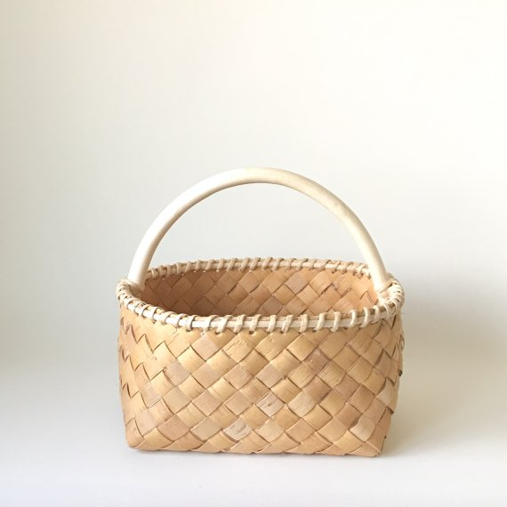 BIRCH HANDLE BASKET