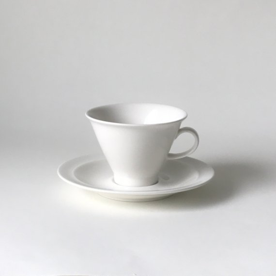 ARABIA HARLEKIN COFFEE CUP & SAUCER