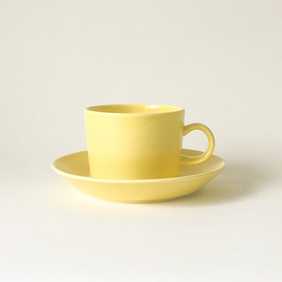 TEEMA CUP & SAUCER-L | yellow