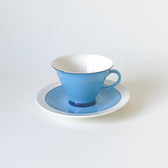 ARABIA HARLEKIN CUP & SAUCER - M