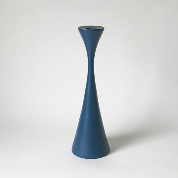 WOODEN CANDLE STAND | blue