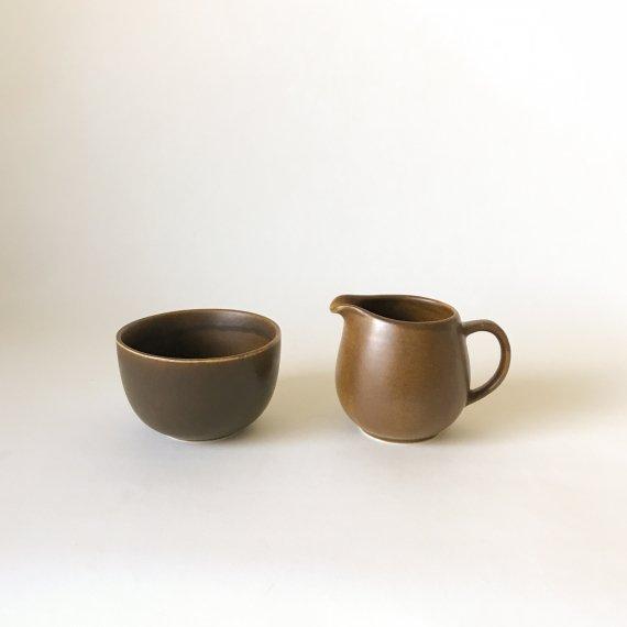 B-MODEL CREAMER & SUGAR BOWL | brown