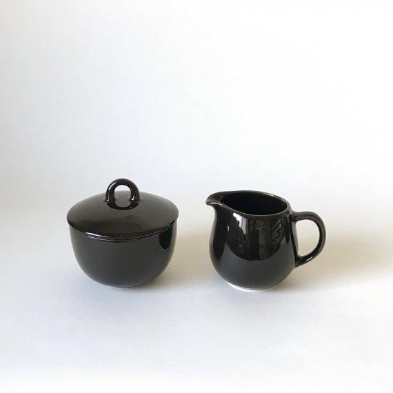 B-MODEL CREAMER & SUGAR BOWL | black