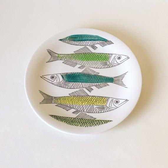 MY GARDEN FISH PLATE