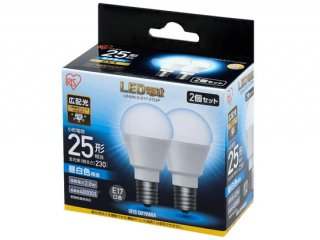 LED電球 E17 広配光 25形相当 (2個セット)<img class='new_mark_img2' src='https://img.shop-pro.jp/img/new/icons61.gif' style='border:none;display:inline;margin:0px;padding:0px;width:auto;' />