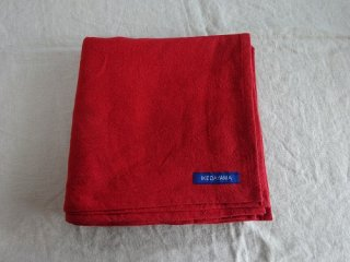 �麻の一枚布 赤 ワッシャー 2m